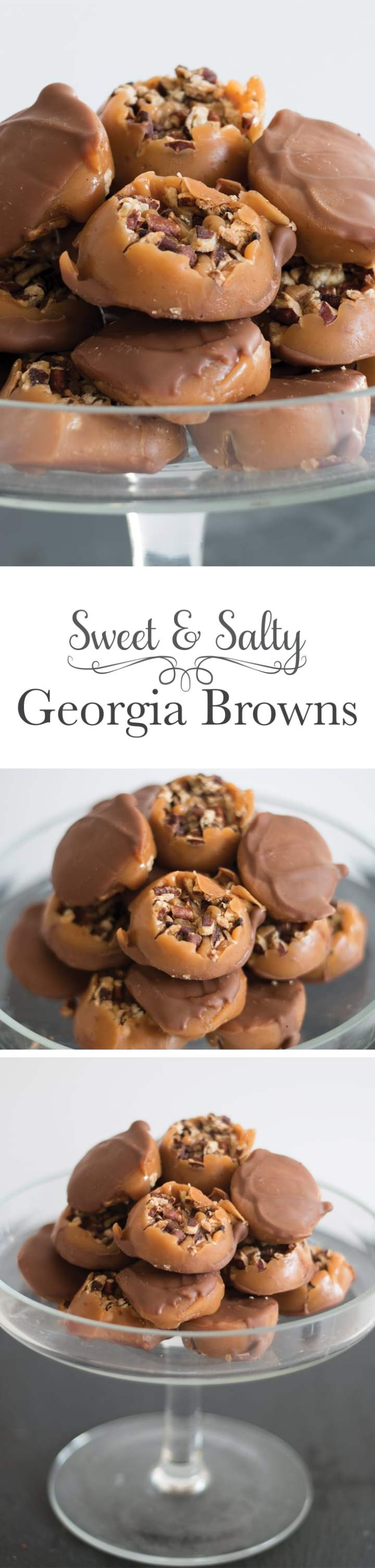 A chewy salted caramel is poured over roasted pecans then topped with a thin layer of rich chocolate. These are what you make when you love someone.