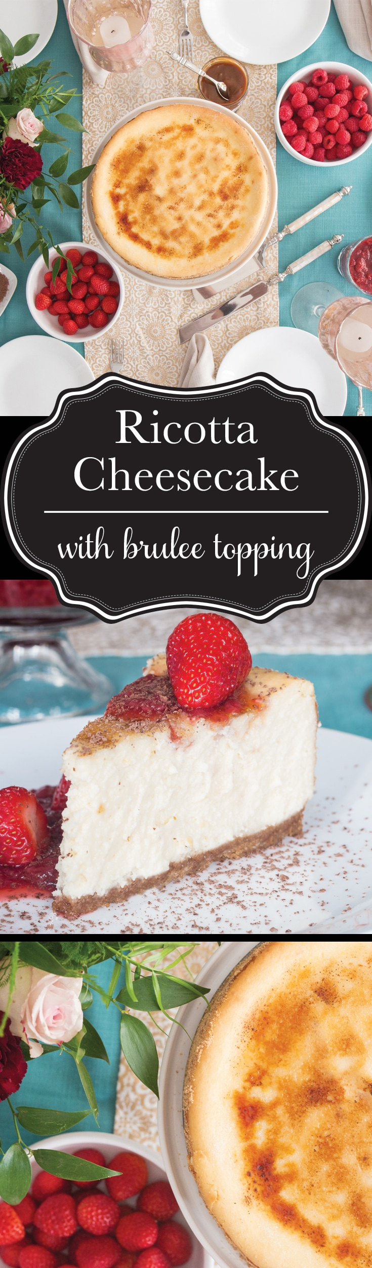 "A fusion of traditional and Italian style cheesecake leaves this one bursting with bright flavour in every extra smooth and creamy bite. The ""icing"" on this cake? A crisp, caramelized, brûlée topping that will have everyone begging you for seconds."