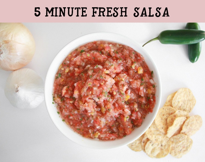 A bright, fresh salsa you whip up in your food processor in just 5 minutes!