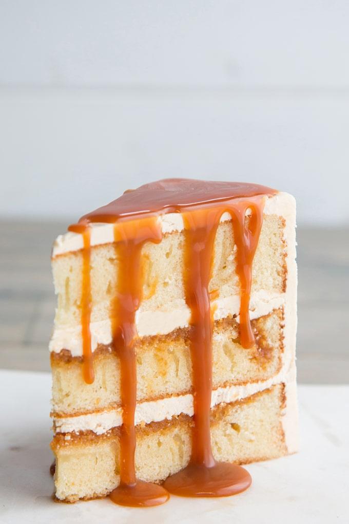 Salted Caramel Cake With A Vanilla Sponge Base Kitchen