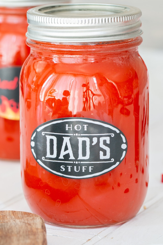 Everyone loves a good cayenne pepper hot sauce (I mean, we put that stuff on everything!). I decided to make some from scratch for Bo for Father's Day, and we'll never look to the self at the grocery store again! Free printable labels for Dad too!