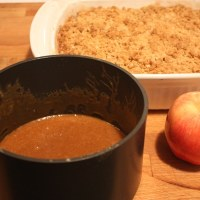 Old Fashioned Apple Crisp (with Caramel Sauce)