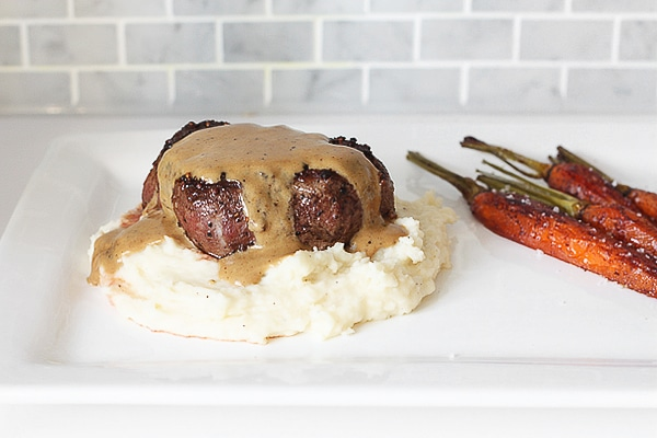 Steak au Poivre is a classic dish for good reason, and sure to be a favorite! I can't get enough of this peppercorn sauce!