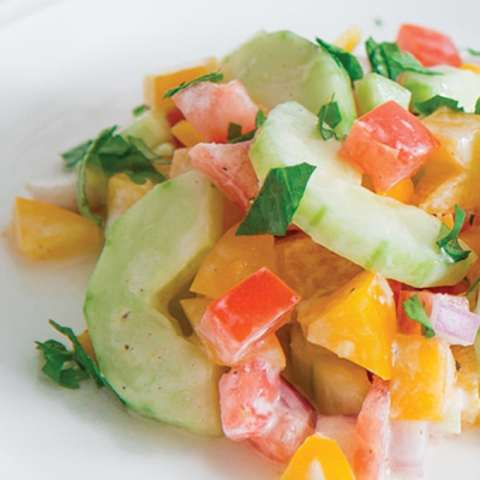 Indian inspired cucumber salad