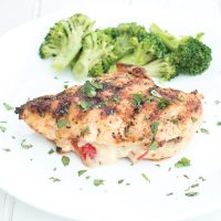 Cajun style stuffed BBQ chicken breasts