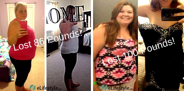 Weight loss before and after from eLifestyle. The smiles on people's faces say more about what the program does for them that the actual weight loss!