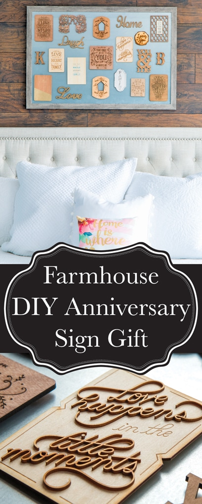 A 10th Anniversary Gift that will absolutely stun your significant other. I am so proud of myself for this DIY farmhouse sign I made for above our bed!