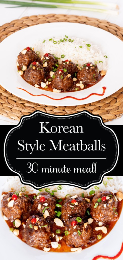 Korean style meatballs with a sweet and spicy glaze.