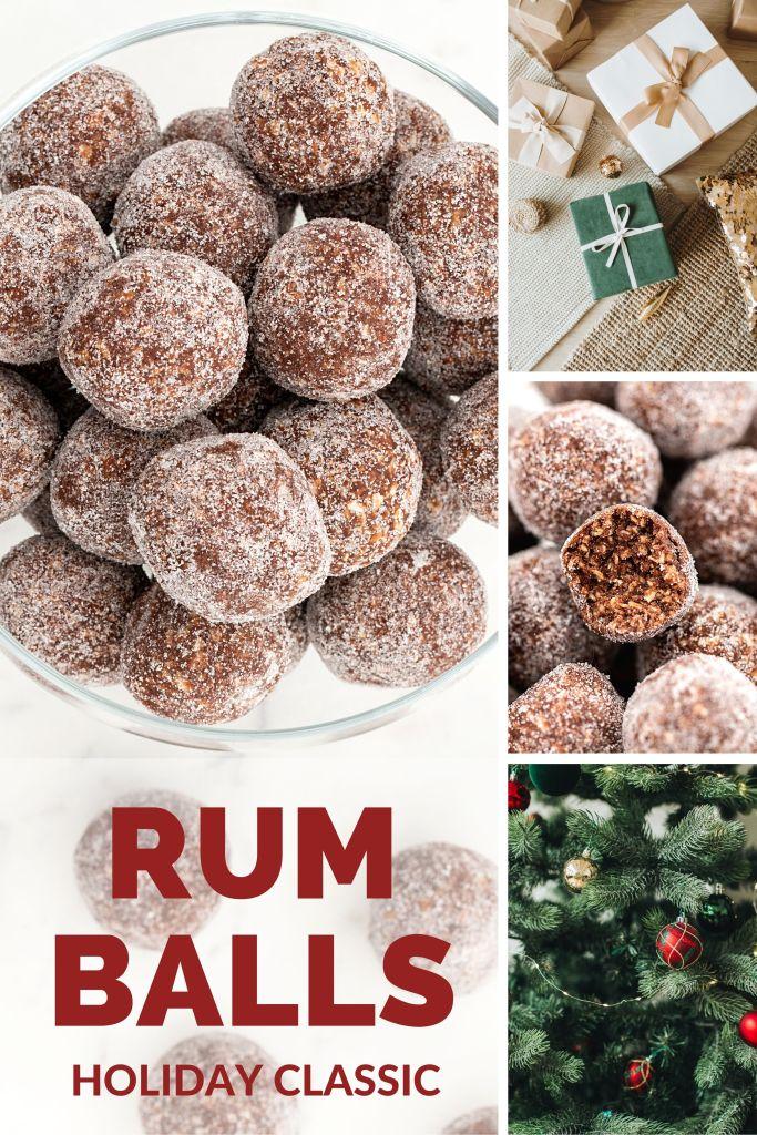 Rum Balls Pinnable Image