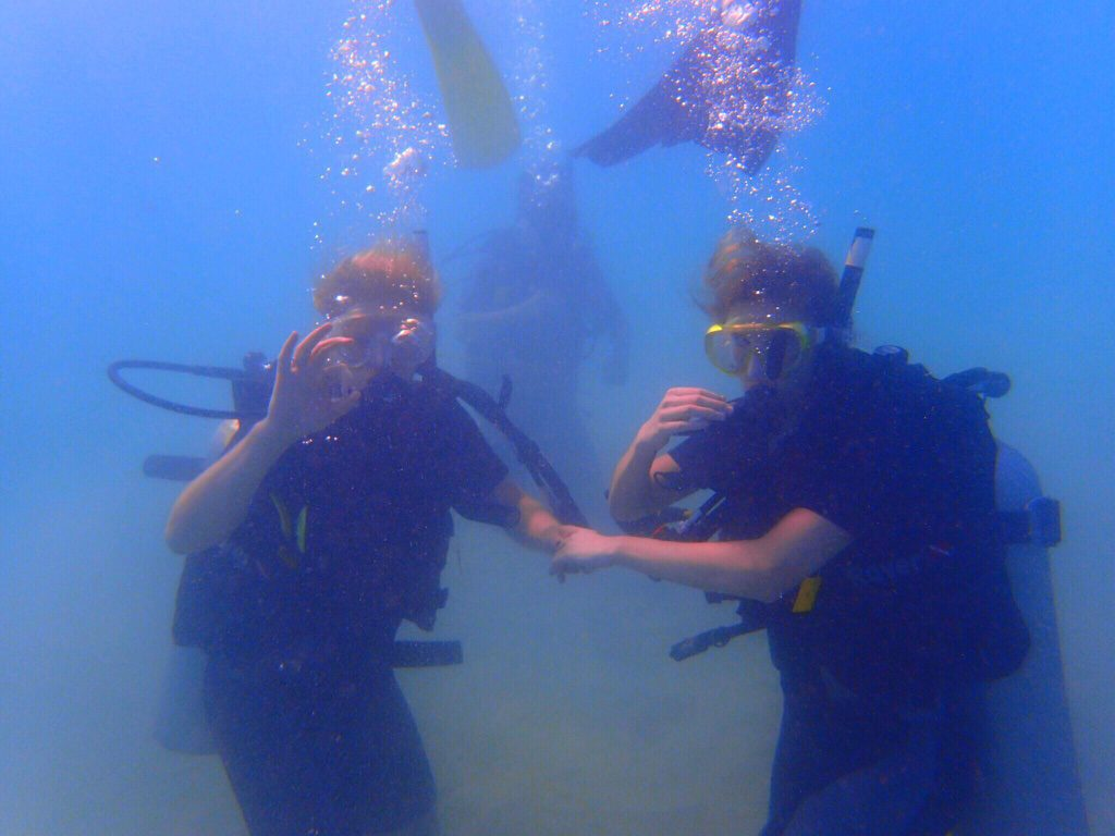 first time open water diving