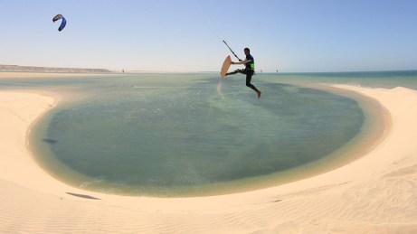 White sand dude - Dakhla, Morocco