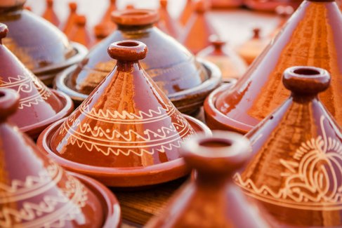 Traditional Moroccan tagines in Dakhla
