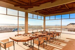 Dining room at KiteWorldWide in Dakhla