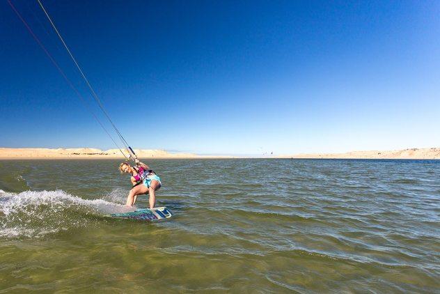 Warm water kitesurfing in Dakhla, Morocco