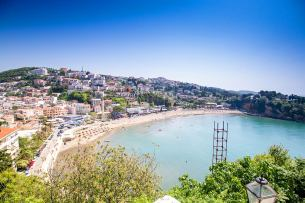 The seaside city of Ulcinj