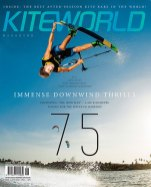 Kiteworld kitesurfing magazine cover issue #75