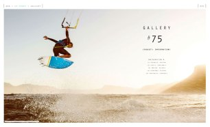 Kitesurfing gallery feature in Kiteworld issue #75