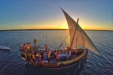Sunset sailing in Watamu