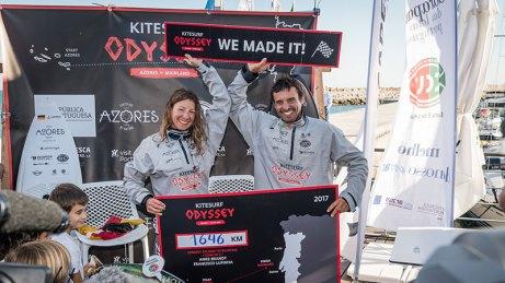 Long distance kitesurfing record 2017