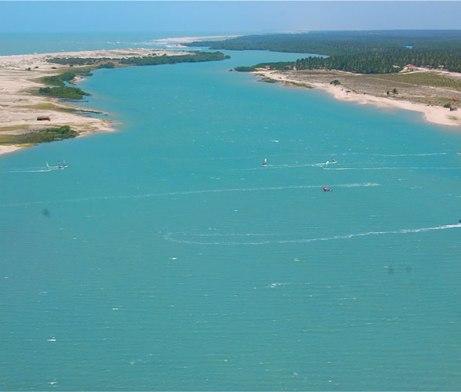 Freeride Kitesurf Ilha do Guajiru, Brazil