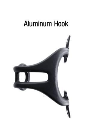 ION black aluminium hook