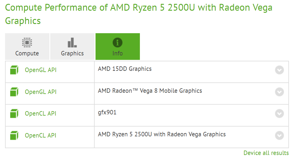 AMD Ryzen 5 2500U with Radeon Vega 8 Graphics AMDs upcoming Raven Ridge APUs explained   The naming convention used for the Mobile Graphics is pretty confusing