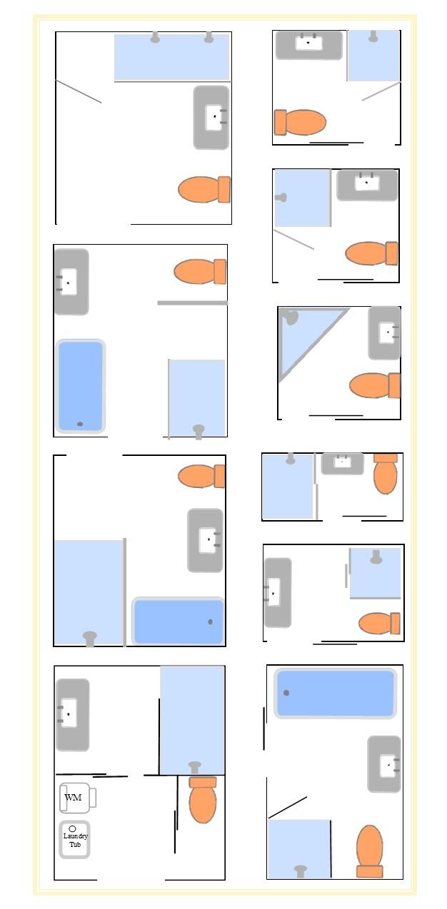 Bathroom Layouts to enhance kit house plans
