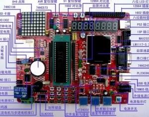 With color Schermo, 51 MCU Scheda di Sviluppo learning board con unD DA fully functional experiments board