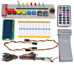 H041 GPIO Starter kit for Raspberry Pi 1602 LCD RGB leds DS18B20 IR remote