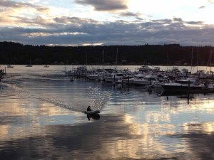 Kayaker at Bremerton Marina