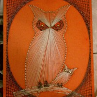 Retro Owl String Art