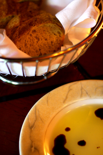 Complimentary Bread with Olive Oil and Balsamic