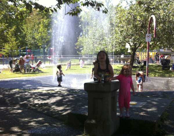 The Kitsilano Community Centre Water Park is a superb place to cool down on these hot summer days.