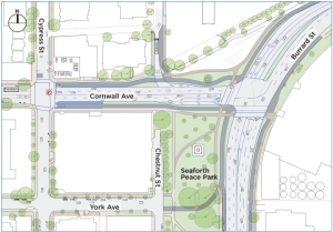 Burrard St/Cornwall Ave Realignment Details