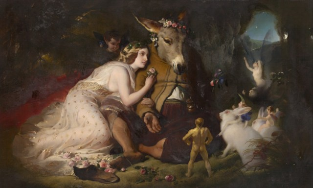 Scene From A Midsummer Night's Dream. Titania and Bottom. By Edwin Landseer, 1848. Photo Credit: Wikipedia.
