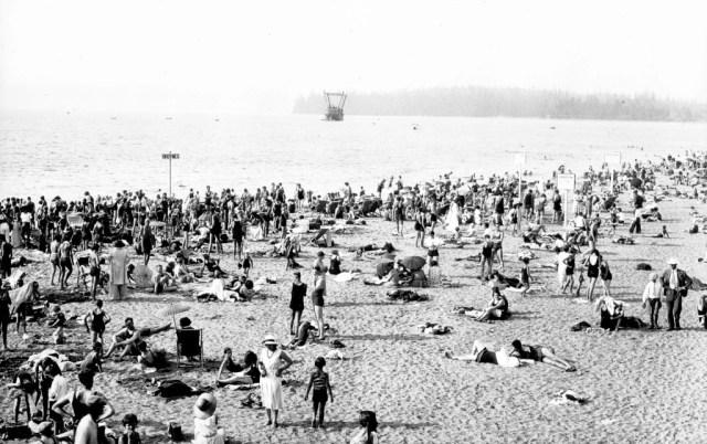 Sunbathers on Kits Beach AM54-S4-: Be P112.3 1937 Matthews, James Skitt, Major