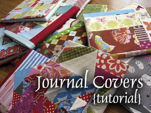 Simple Fabric Book Cover Tutorial ~ Fabric journal cover tutorial kitskorner