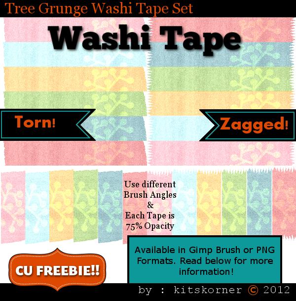 Digital Washi Tape Freebie