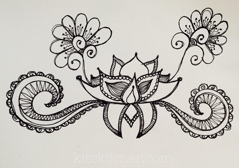 sketchbook   random lotus doodle
