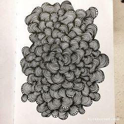 Mindless line art doodles…