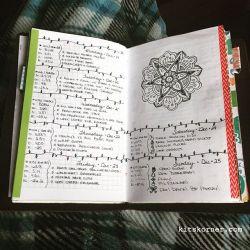Dec 19 – Dec 25 Daily-Weekly Spread in my Mandala Journal…..