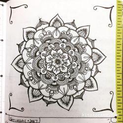 Jan 2-8 – Mandala Journal Closeup…
