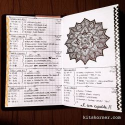 Jan 23-29 in my Mandala (BuJo) Journal…..