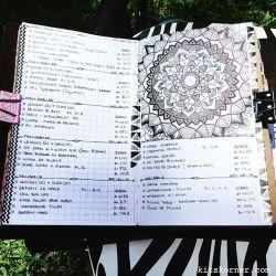 Mar 27-Apr 2 in my Mandala (BuJo) Journal…..