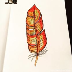 Watercolor Feather Doodle…
