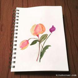 Watercolor Tulips…