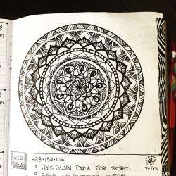 Apr 22-27 – Mandala BuJo Closeup…
