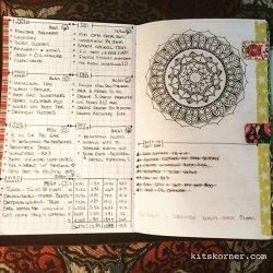 May 28-June 3 in my Mandala (BuJo) Journal…..