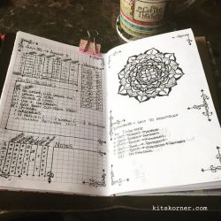 Jul 30-Aug 5 in my Mandala (BuJo) Journal…..