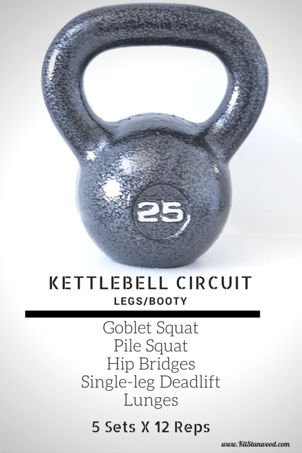 Legs and Glutes Kettlebell Circut